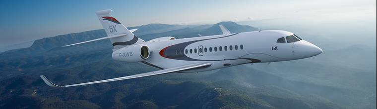 radial tire on newest large cabin long range business jet
